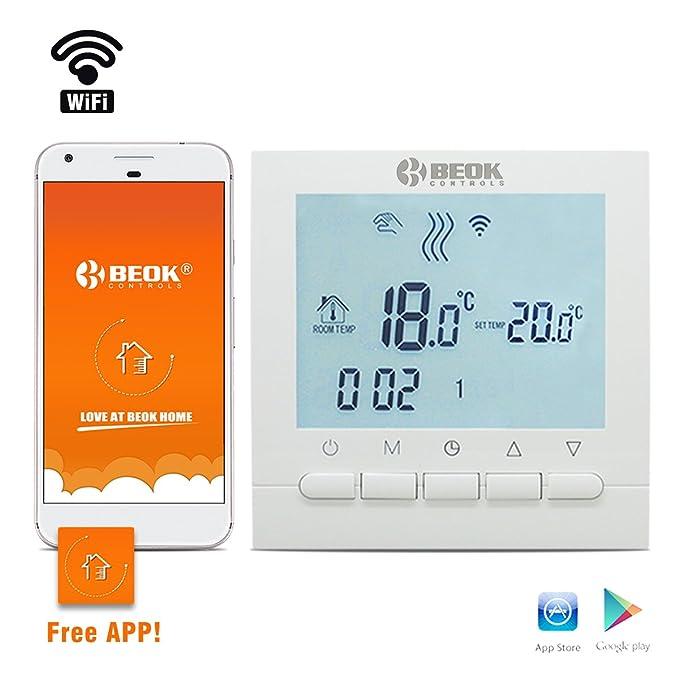 35 opinioni per Beok BOT-313, termostatoWi-Fi per caldaia a gas, regolatore della temperatura