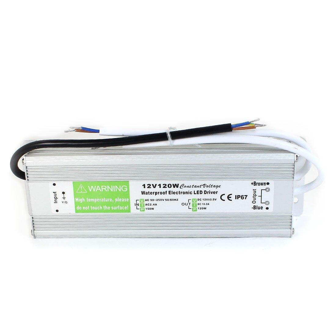 JOYLIT 120W IP67 Waterproof Aluminum Alloy LED Power Supply Driver LED Transformer 110-240V to 12V DC Output