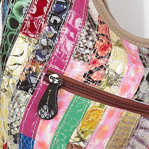 Mochila Costura Cuero Bolsos Bandolera En Bolso De 1593756 Dama Moda Color Laidaye Acolchado xinyu pTAqwxt4
