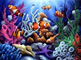 5D DIY Diamond Painting ,Diamond Painting by Number Kits for Adults Full Square Drill Rhinestone Embroidery for Wall Decoration(30X40CM/12X16inch),Undersea World