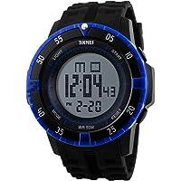 VIGOROSO Mens LED Stopwatch Waterproof Rubber Band Military Digital Sport Wri...
