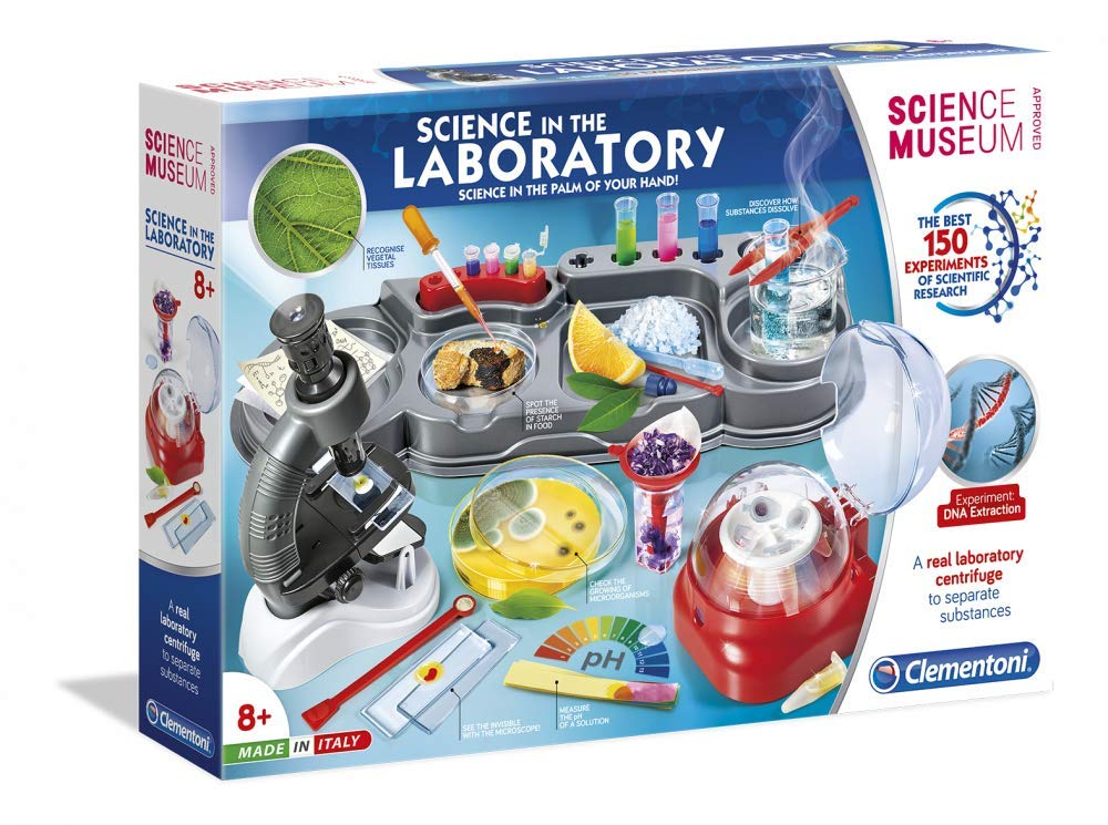 Clementoni Science in The Laboratory Kit | 150 Experiments for Kids | STEM Learning Lab by Clementoni