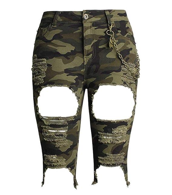 HaiDean Pantalones Vaqueros De Camuflaje Mujer De para ...