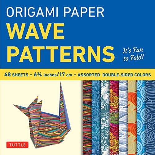 - Origami Paper - Wave Patterns - 6 3/4 inch - 48 Sheets: Tuttle Origami Paper: High-Quality Origami Sheets Printed with 8 Different Designs: Instructions for 8 Projects Included