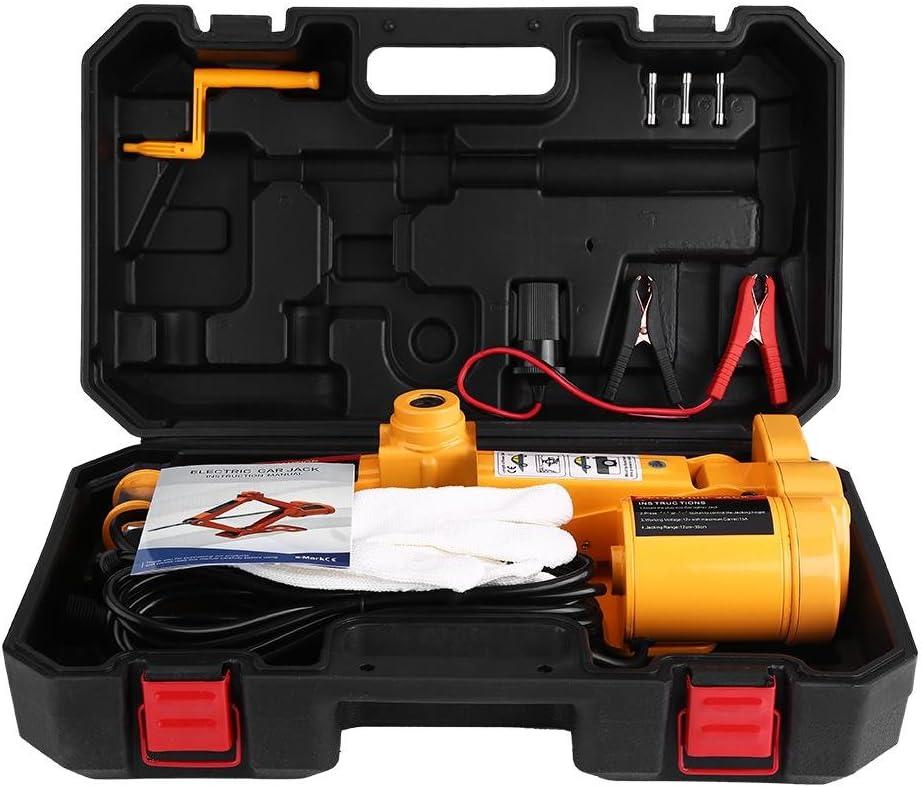 Floor Jack,3Ton 12V DC Automotive Car Electric Jack Lifting SUV Van Garage and Emergency Equipment