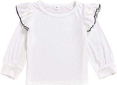 K-Youth Camisetas de Manga Larga Niñas Volantes T-Shirt Niña 1-6 años Blusa Niña Ropa Nina Invierno Oferta Ropa para Reyes: Amazon.es: Ropa y accesorios