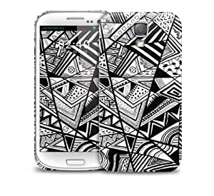 Black White Abstract Samsung Galaxy S4 GS4 protective phone case by Maris's Diary