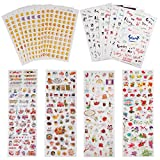 #9: Planner Stickers Value Pack (Assorted 1877 PCS, 44 Sheets) - Decorative Sticker Collection for Scrapbooking, Calendars, Arts, Kids DIY Crafts, Album, Bullet Journals by Knaid