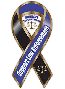 """Refrigerator Magnet - Support Law Enforcement - Cops, Police, Sheriff - 3.75"""" x 8"""""""