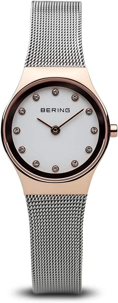 BERING Reloj Analógico para Mujer de Cuarzo con Correa en Acero Inoxidable 12924-064