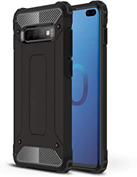 AOBOK Funda Samsung Galaxy S10 Plus, Negro Moda Armadura Híbrida ...