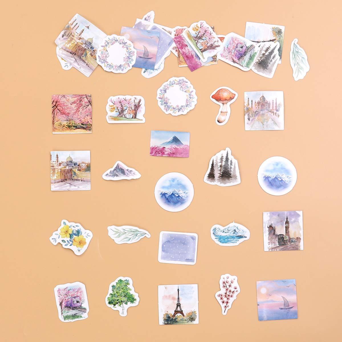 40 unids El Significado de los Viajes Pegatinas Set Colecci/ón de Pegatinas Decorativas para Scrapbooking Calendarios Artes Ni/ños DIY Manualidades /Álbumes Bullet