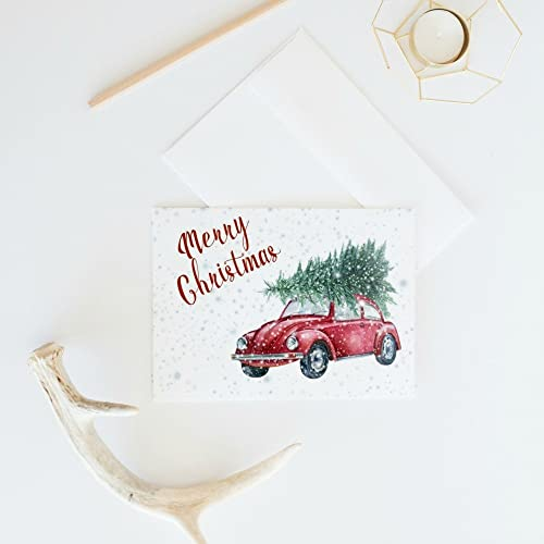 rustic christmas card set retro holiday card merry christmas card simple christmas cards - Rustic Christmas Cards
