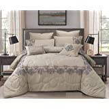 Double Comforter 8Pcs Set By Hours, King Size,Yuki-04