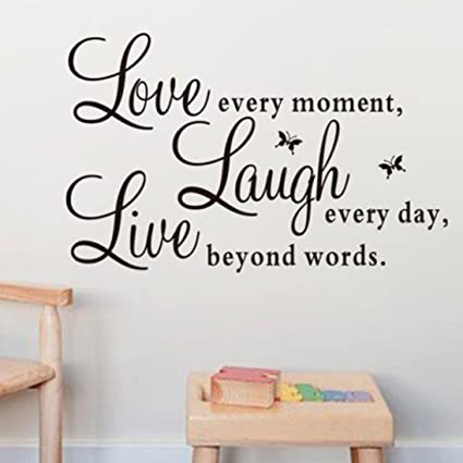 jieyui vinyl wall stickers live laugh love letter quotes art home decal murals