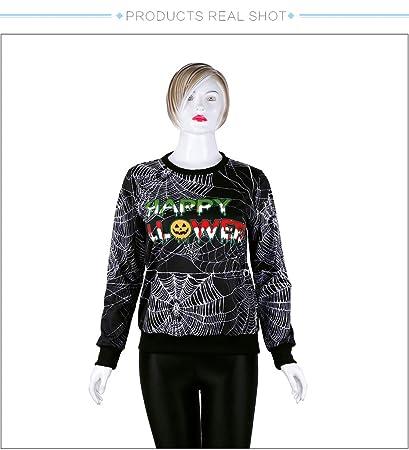 Ruanyi Marca de Invierno Hip-Hop Punk impresión de la Tela de araña Mujeres Sweatshir