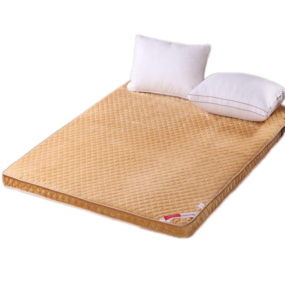 C 90x200cm H 5cm Breathable Soft Flannel Mattress, Quilted Ergonomic Folding Mattress Anti-mite-B 150x200cm H 5cm