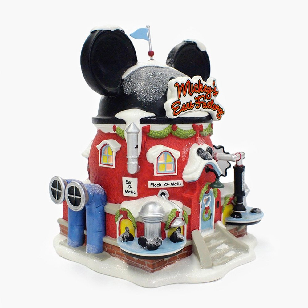Department 56 North Pole Village Mickey's Ear Factory Miniature Lit Building by Department 56 (Image #3)