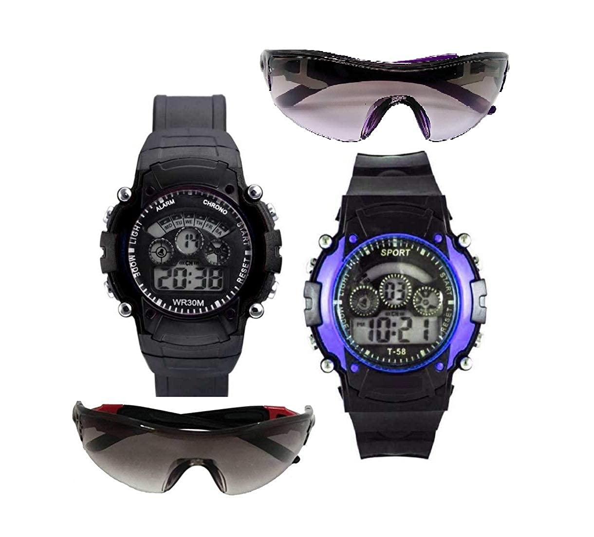 Pass Pass  Light & Goggal Watch & Sunglasses for Girl and Boy