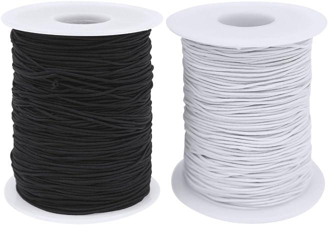 10 Cavo elastico-nero o bianco 8mm circa