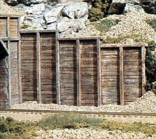 (WOODLAND SCENICS C1160 Timber Retaining Walls (6) N WOOU1160 by Woodland Scenics)