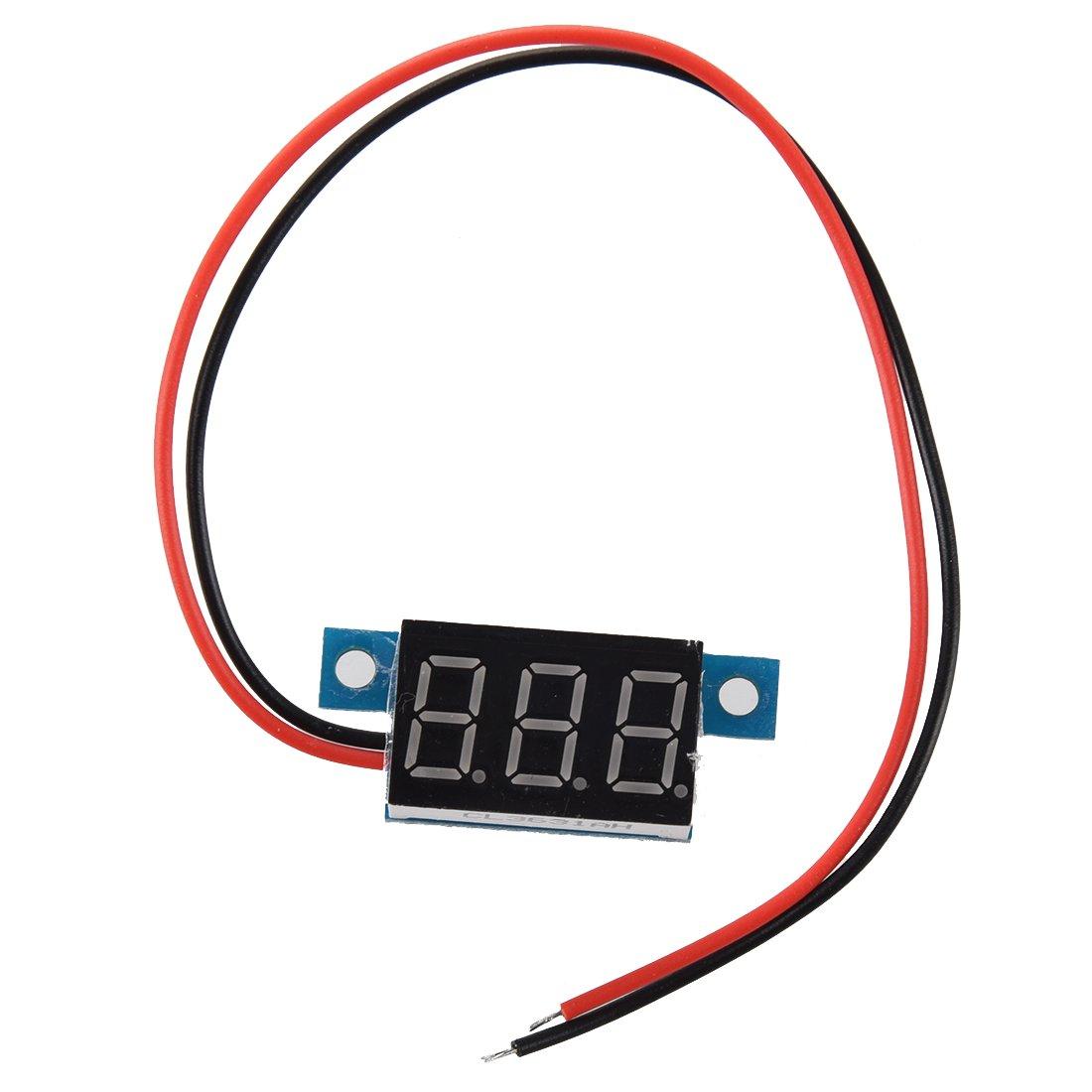 SODIAL(R) Mini Digital Voltmeter LED Spannungsanzeige Panelmeter 3.3-30V Rot