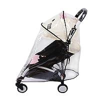 Protection étanche universelle pour poussette - Parapluie pour landau de bébé - Couvre et protège la poussette du vent, de la poussière - Matériau EVA