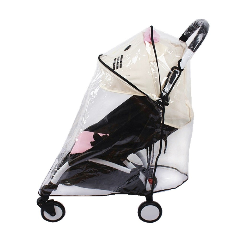 Universal Baby Stroller Rain Cover Waterproof Umbrella Stroller Wind Dust Shield Cover for Strollers,EVA Material Weather Shield Stroller for Baby Rain Protection