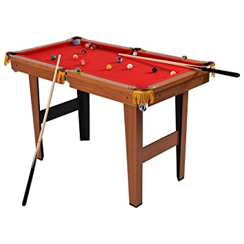 Goplus Mini Pool Table Tabletop Billiard Game Set W/ Cues Balls 48u0026quot;  And 36u0026quot