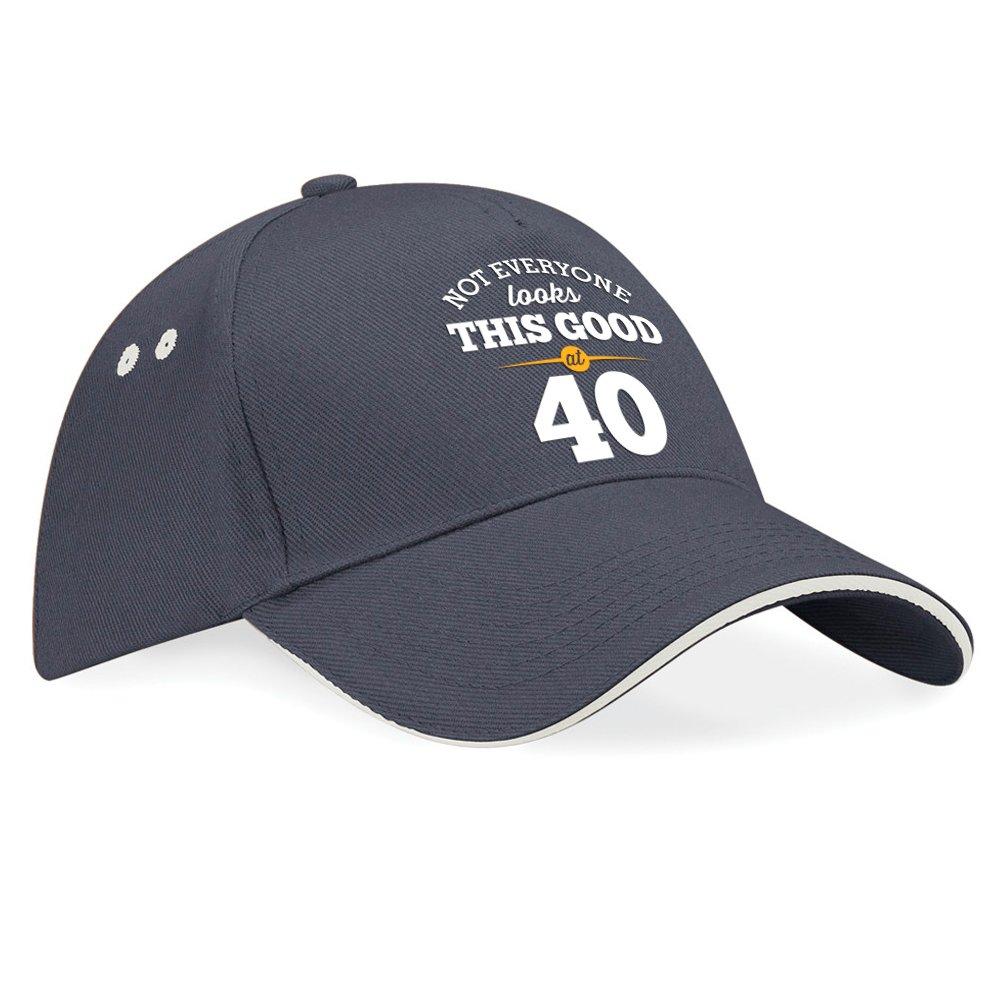 40th Birthday, 40th Birthday Gift, 40th Birthday Gifts For Men, 40th birthday gifts for women, 1976 Birthday, Still Looking Good At 40, Hat, Baseball cap (Black (Fuchsia Trim)) Design Invent Print!