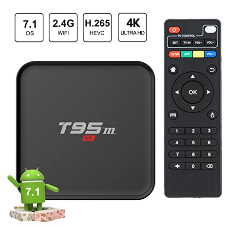 Amazon.com: EASYTONE Android 7.1 TV Box Quad-core Speed Android Box Support 3D 4K Video devoding H.265 2.4GHz WiFi 1GB/8GB Media Player(2018 Version): ...