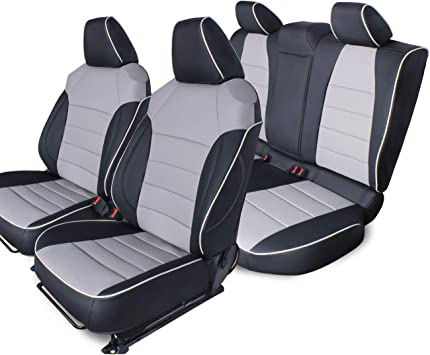 Car seat covers fit  Ford Fiesta black  leatherette full set