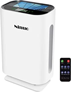 Ninuo Air Purifier with UV-CLamp - True HEPA Filter Air Purifiers for Home, Bedroom, Kitchen, Office - Large Room 538 Sq.Ft Allergy Air Cleaner, 99.97% Dust Remover and Deodorizer for Pets, Smokers