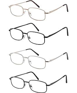 9e07839682 Pack de 4 Gafas de Lectura Vista Cansada Presbicia, Graduadas Dioptrías + 1.00 hasta…