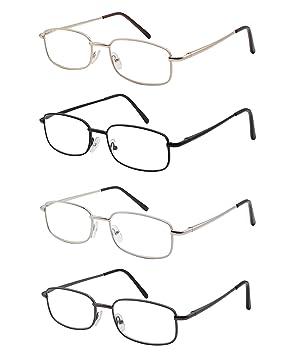 Pack de 4 Gafas de Lectura Vista Cansada Presbicia, Graduadas Dioptrías +1.00 hasta +