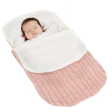 TotallyFashion saco de dormir/saco de dormir, manta de punto de lana para bebés