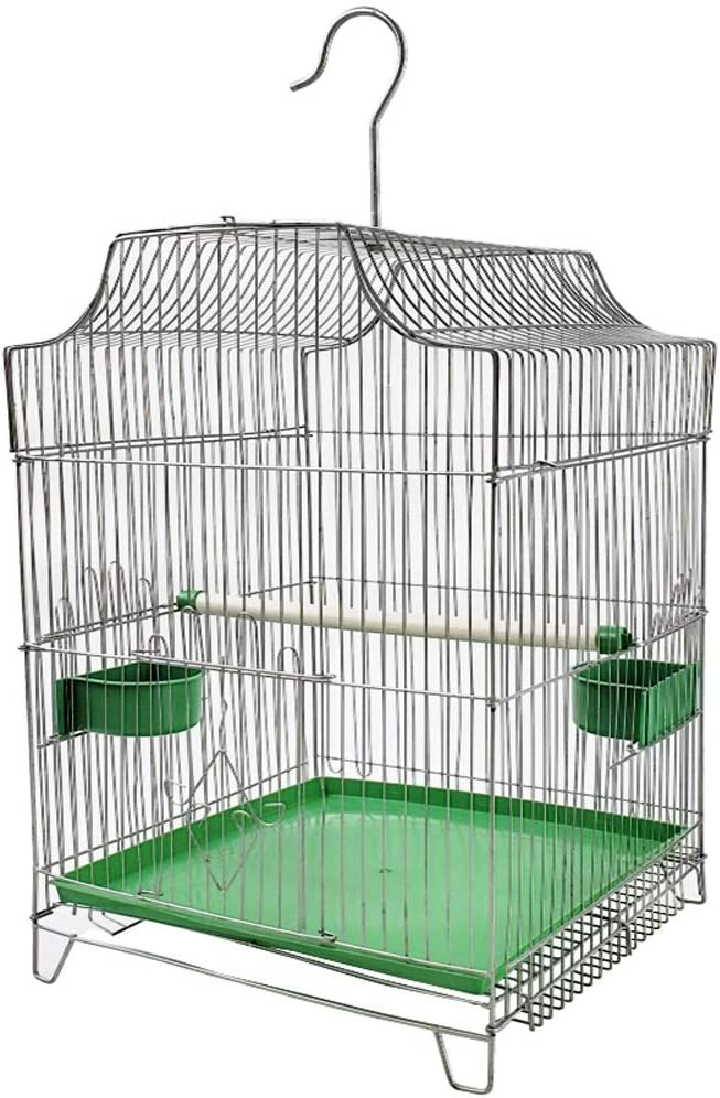 Jaulas de pájaros perico loro La jaula de pájaro de Myna Myna Thrush Acacia pájaro Jaula del loro de la paloma jaula de alambre de la jaula de aves mascotas Suministros de la jaula de pájaros universa