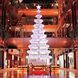 LED String Lights, Solar Christmas Lights 39ft 100 LED 8work Modes Ambiance lighting for Outdoor Patio Lawn Landscape Fairy Garden Home Wedding Holiday waterproof cold white