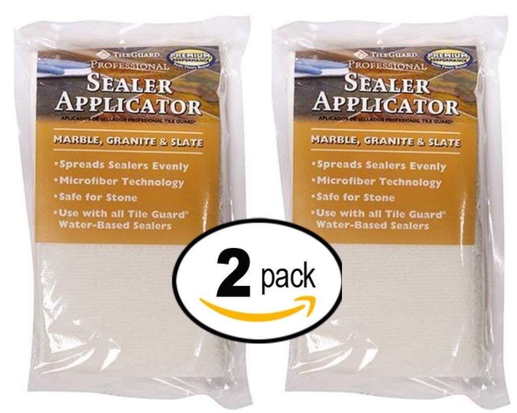TileGuard Professional Microfiber Sealer Applicator Pad For Marble, Granite or Slate - 2 Pack
