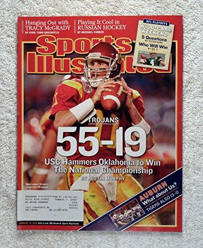Matt Leinart - USC Trojans - 2004 National Champions! - Orange Bowl - Sports Illustrated - January 10, 2005 - Oklahoma Sooners - College Football - SI