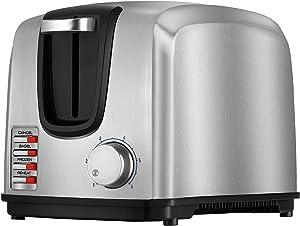 BLACK+DECKER T2707S-CL 2-Slice Modern Toaster, 220V (Not For Usa - European Cord), Stainless Steel