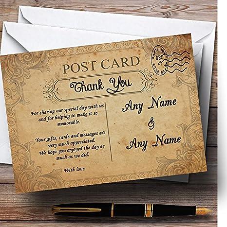 Amazon.com: Classic clásico Shabby Chic postal personalizada ...