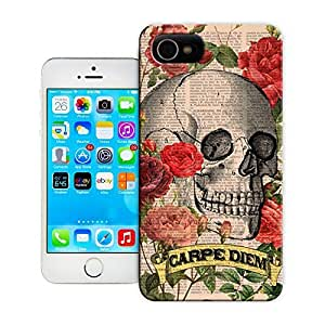 Unique Phone Case Skeleton skull head arts map Skull Art Print Roses Skull Tatoo Hard Cover for 4.7 inches iPhone 6 cases-buythecase