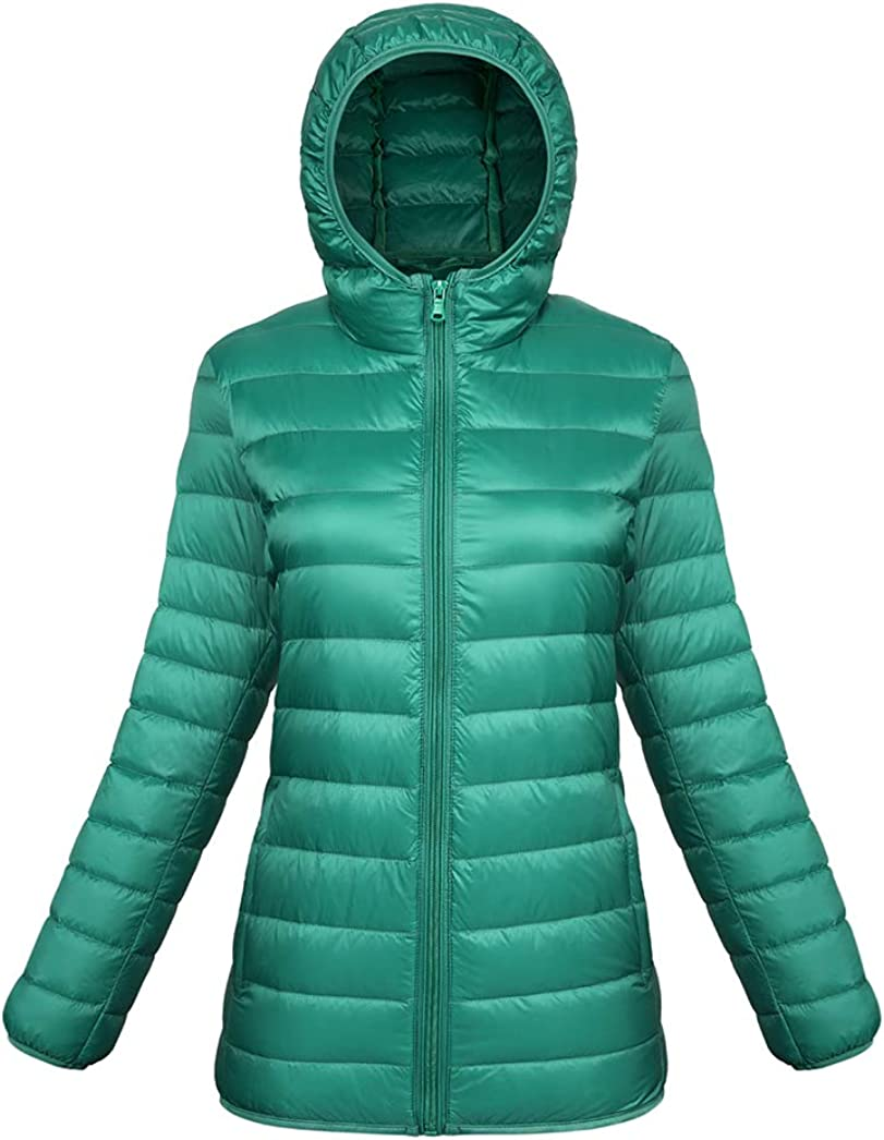 Taylor Eddie Womens Hooded Packable Ultra Light Weight Down Coat Puffer Coat