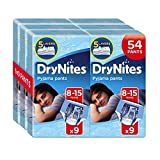 Huggies DryNites Pyjama Pants for Boys, Age 8-15, Pack of 3 (2 x 27 Pants= 54 Pants Total)