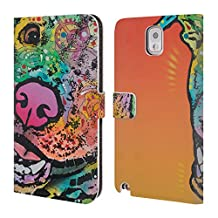 Official Dean Russo Wyatt Dogs 3 Leather Book Wallet Case Cover For Samsung Galaxy S4 I9500