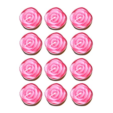 Mobestech - Velas Rosas de Flores (12 Unidades, 2 Horas ...