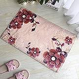 PLLP 3D Flannel Printed Carpet, Floor Mat Bathroom Absorbent Mat, Bedroom Mat, Bathroom Kitchen Rug, Floor Mat,C,4060CM