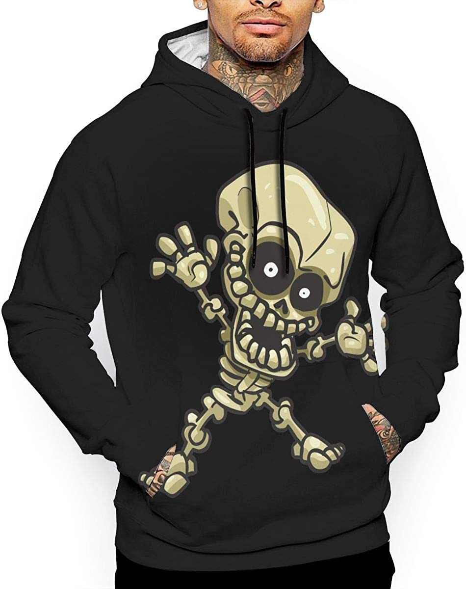 Vivtif Skull Painting Mens Pullover Hoodies with Pockets Long Sleeve Casual Hooded Sweatshirt for Adult and Boys