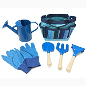 Megawodar Kids Garden Tool Set with Storage Bag for Boy